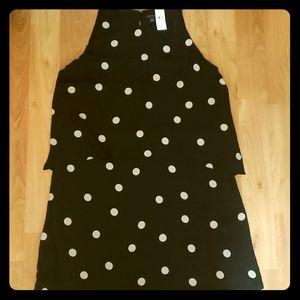Ann taylor polka dot sleeveless dress